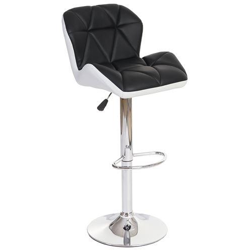 2x tabouret de bar Hamilton, chaise de comptoir, bois, similicuir, rotatif anthracite