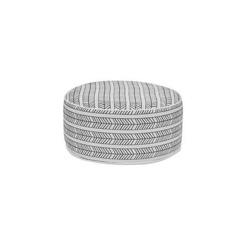 Pouf Gonflable Bocarnea - Assise 53 Cm - Revetement Spun Polyester 200 Mg - Motif Ethnique Noir Et Blanc