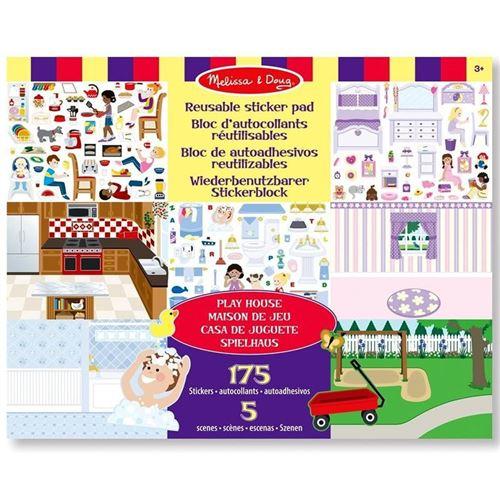 Stickers Repositionnables 175 + 5 Scènes Sur La Maison Enfants 3 Ans +