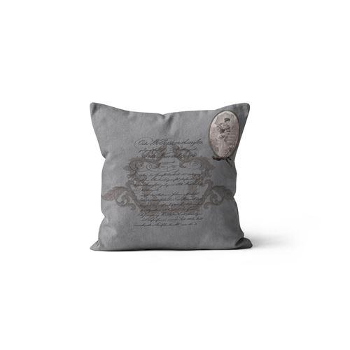 Coussin Médaillon - 40 x 40 cm - Gris
