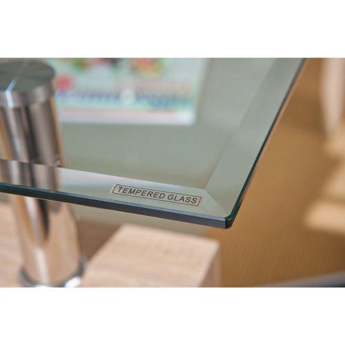 Table basse rectangulaire - Double plateau en verre