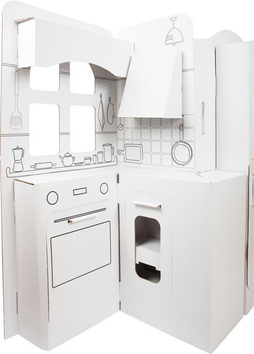 Small Foot cuisine pour enfants junior 117 x 57 cm carton blanc