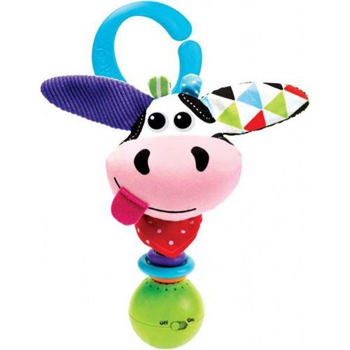 Yookidoo hochet Shake Me Rattle Cow 16 cm en peluche