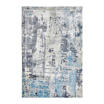 Tapis vintage bleu en viscose pour salon story - Achat & prix | fnac