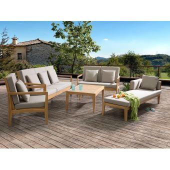 -199€60 sur Beliani - Ensemble de jardin - Salon en bois d ...