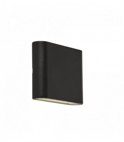 Applique d'extérieur à led haut / bas - noir - diffuseur transparent