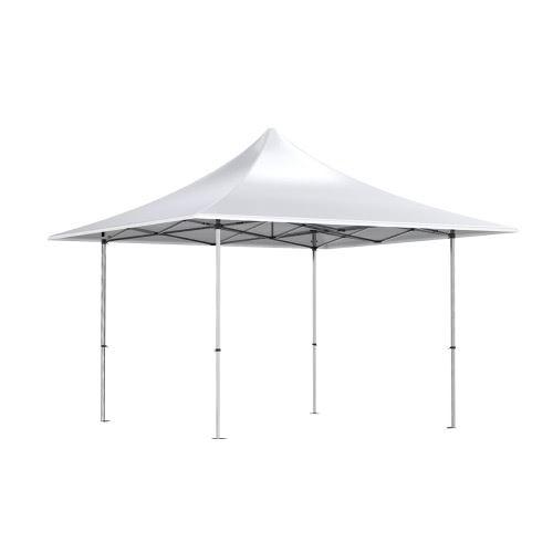Barnum pliant TINGTOP 4x4m polyester 300g/m² Pelliculé PVC tube aluminium 40mm Coloris Blanc