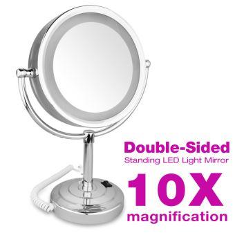 Miroir Grossissant Led X10 Bi Face 85 Pouces Miroir Maquillage