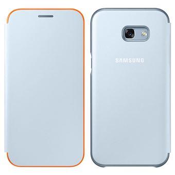 Etui Flip Cover Samsung Neon Bleu pour Galaxy A3 2017