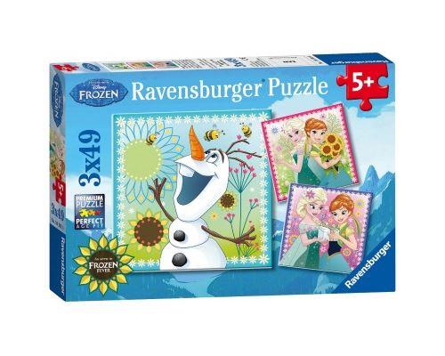 Puzzle 49 Pièces : 3 Puzzles - La Reine des Neiges, Ravensburger