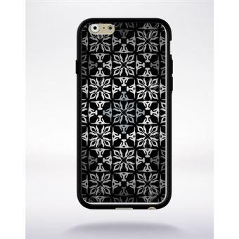 Coque Mosaique Baroque Compatible Apple Iphone 6 Bord Noir Silicone