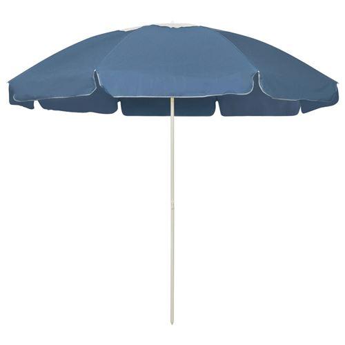 Parasol de plage 240 cm Bleu