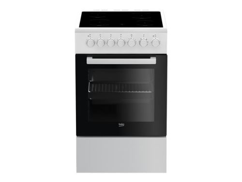 Beko FSM57100GW - Cuisinière - pose libre - largeur : 50 cm - profondeur : 60 cm - hauteur : 85 cm - classe A - blanc