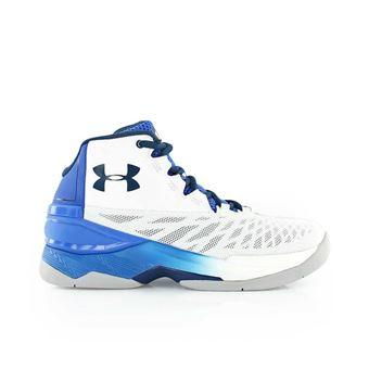 Chaussure de Basket Under Armour BGS longueshot blanche et