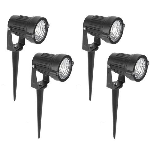 Lumières de Paysage de Jardin Résistantes à L'Humidité DC12V Imperméable 4Pcs