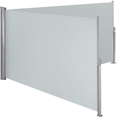 TecTake Paravent rétractable double - 200 x 600 cm - gris