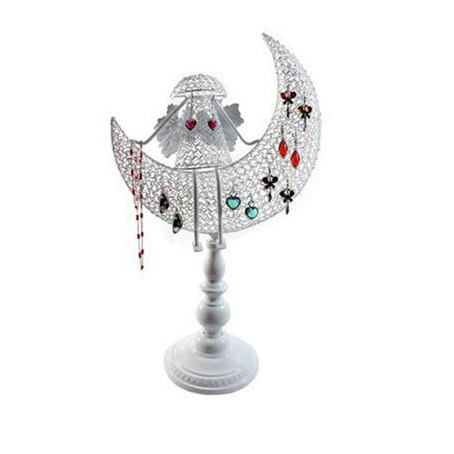 Porte bijoux porte bijoux ange décoratif pour boucle d'oreille et chaines Blanc