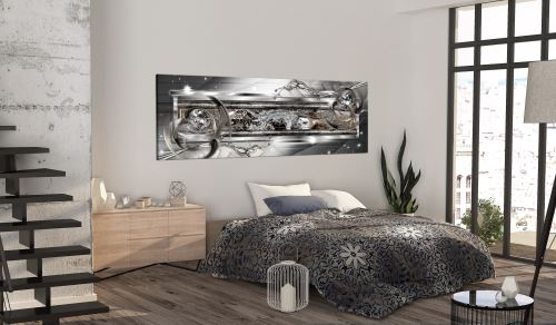 135x45 Tableau Modernes Abstraction Chic Silver Source