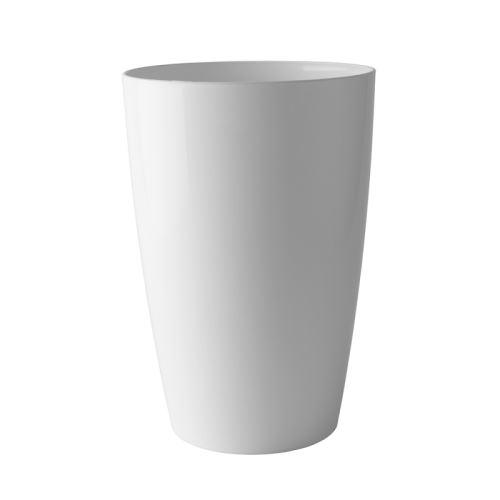 Pot de fleur vase blanc haut de gamme pour une décoration tendance, Ø 29 cm H 40 cm