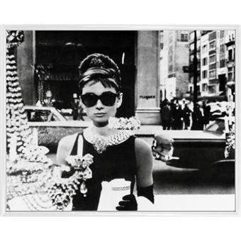 conception populaire meilleur grossiste sélection mondiale de Mini Poster Encadré: Audrey Hepburn - Lunettes De Soleil (40x50 cm), Cadre  Plastique, Blanc