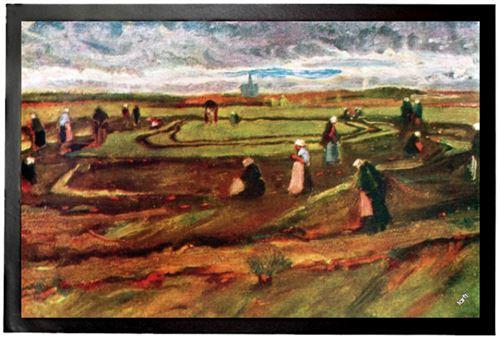 Vincent Van Gogh Paillasson Essuie-Pieds - Paysages Avec Raccommodeuses De Filets, 1882 (60x40 cm)