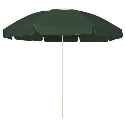 Parasol de plage 240 cm Vert