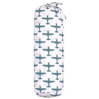 TAFTAN DRAP HOUSSE POUR LIT enfant 100% Coton Complète votre parure de lit  Blanc et vert - Motifs avions Dimensions 70 x 140 cm N absorbe pas l eau ... 04f2c94dea4