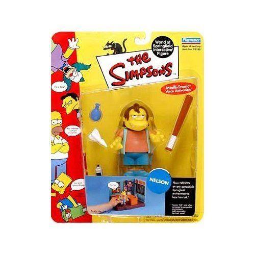 Simpsons - Figurine interactive de World of Springfield - Série 3 - Accessoires personnalisés pour Nelson