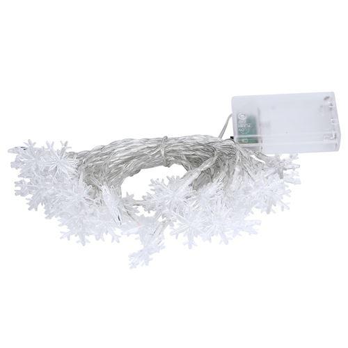 Guirlande lumineuse LED flocon de neige 6m lumière blanc chaud
