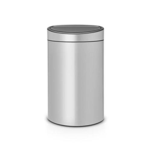Brabantia poubelle touch bin - 40l - gris métallique 114922