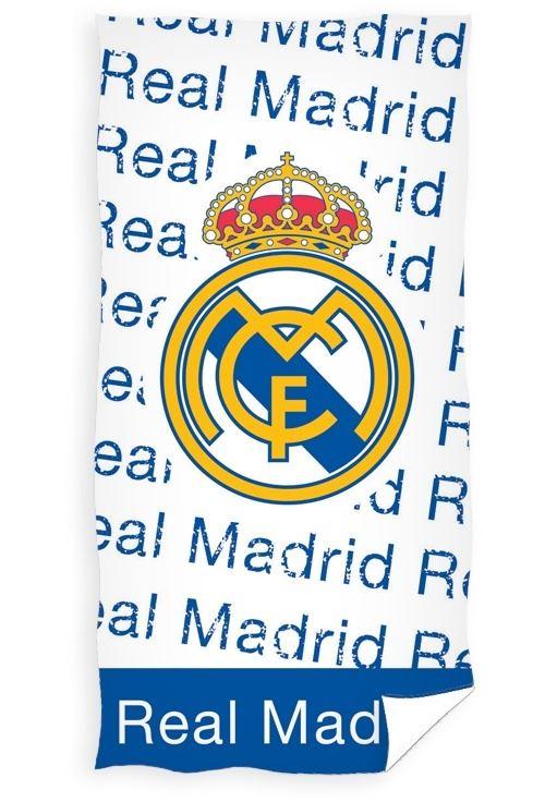 Real Madrid serviette de bain 75 x 150 cm bleu/blanc