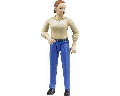 Bruder Woman, light Skin, Blue Jeans Toy Figure