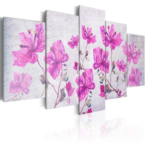 Tableau - purple flowers - artgeist - 100x50