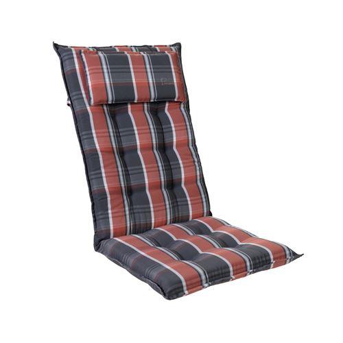 Coussin de chaise de jardin -Blumfeldt Sylt -120 x 50 x9 cm -1 pièce -Noir / Rouge