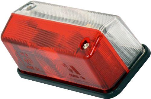 Carpoint largeur de lumière 12 Volt rectangle de 95 mm rouge / blanc