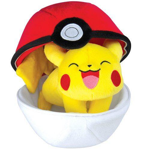 Pokemon T19363 - Tomy Pokéball en peluche avec fermeture éclair - pour jouer et recueillir à partir de 3 ans,Modèle aléatoire