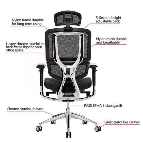 Pivotante De Dossier Chaise Haut À Ergonomique Bureau Avec Homdox CxBrQeWdo