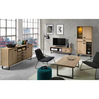 Meuble Tv 1 Vitrine Buffet Table Basse Solo Ensemble De Meubles Design Et Moderne Ideal Pour Votre Salon Meuble Tv Achat Prix Fnac