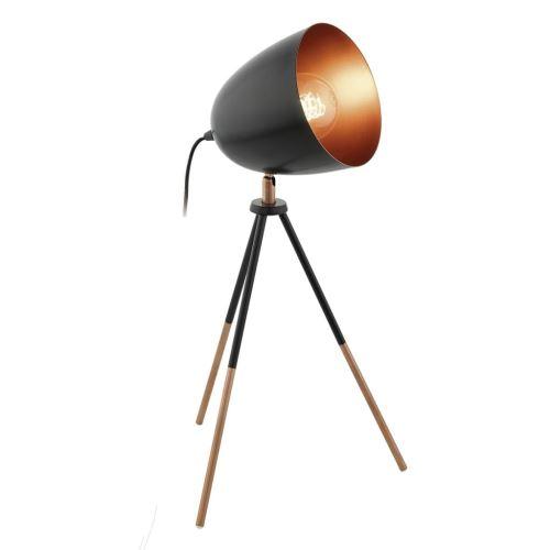 EGLO Lampe de table CHESTER Noir et cuivre 49385
