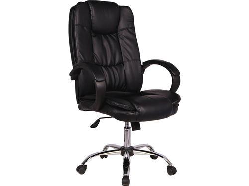 fauteuil de bureau à roulettes hugo - noir