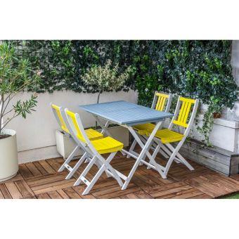 Table de jardin pliante rectangulaire BURANO CITY GREEN Bleu lagon ...