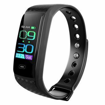 Montre Connectée Femmes Homme Bracelet Connecté Cardiofréquencemètre Smartwatch Podomètre Fitness Tracker D Activité Tension Noire Montre Connectée Achat Prix Fnac