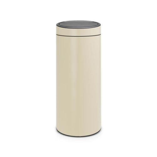 Brabantia poubelle touch bin - 30l - amande 115042