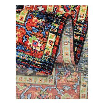 Tapis Multicolore Vintage Rectangle Rave Achat Prix Fnac