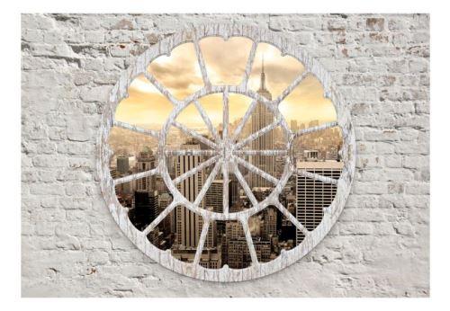 Papier peint - New York: A View through the Window .Taille : 200x140
