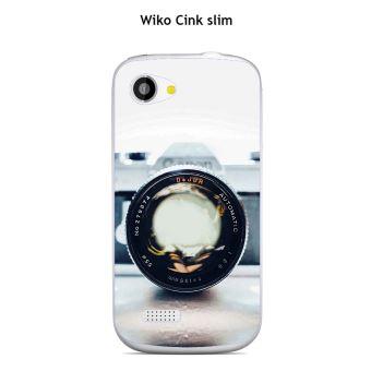 Coque Wiko Cink slim design Appareil photo vintage 2