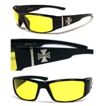 9a3f97eb966 lunette de soleil choppers à croix de malte verre jaune nuit - Lunettes -  Achat   prix