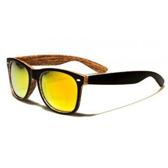 1ecffbff718 lunette de soleil plastique imitation bambour verre jaune - Lunettes -  Achat   prix