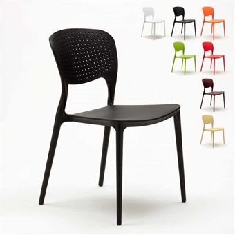 13 Sur Chaise Salle A Manger Bar Cafe Polypropylene Emplilable