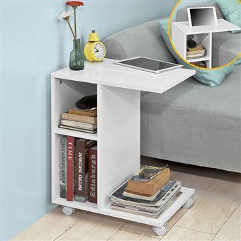 Sobuy Fbt48 W Bout De Canape Table D Appoint Moderne Roulante